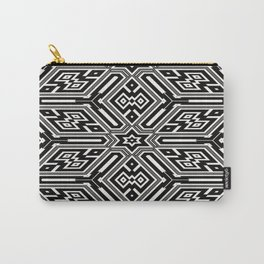 grid black white 3 Carry-All Pouch