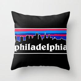 Philadelphia Cityscape Throw Pillow