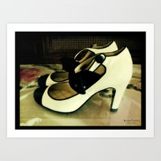 Shoes - Chanel I Art Print