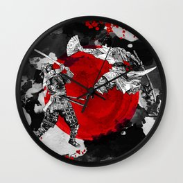 Samurai Fighting Wall Clock