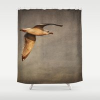 bioshock infinite Shower Curtains featuring Infinite by Elke Meister