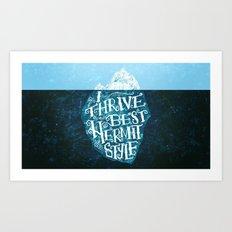 Hermit Iceberg Art Print