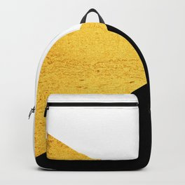 Gold & Black Geometry Backpack