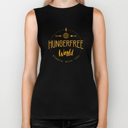 A HungerFree World Starts With You Biker Tank