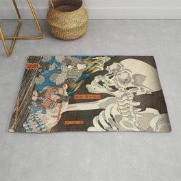 Ukiyo-e Prints Ukiyo e Takiyasha the Witch and the Skeleton Spectre by Utagawa Kuniyoshi Japan Poster Woodblock Japan prints Rug