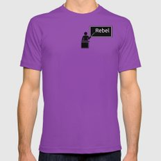 Repeat after me: rebel! Ultraviolet LARGE Mens Fitted Tee