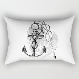 Anchor and harpoon. Rectangular Pillow