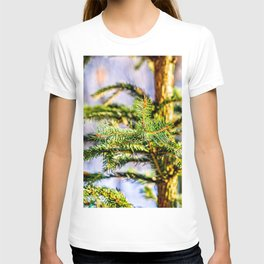 Christmas Tree Raises In The Forest T-shirt