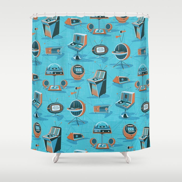 E Age Hifi Shower Curtain