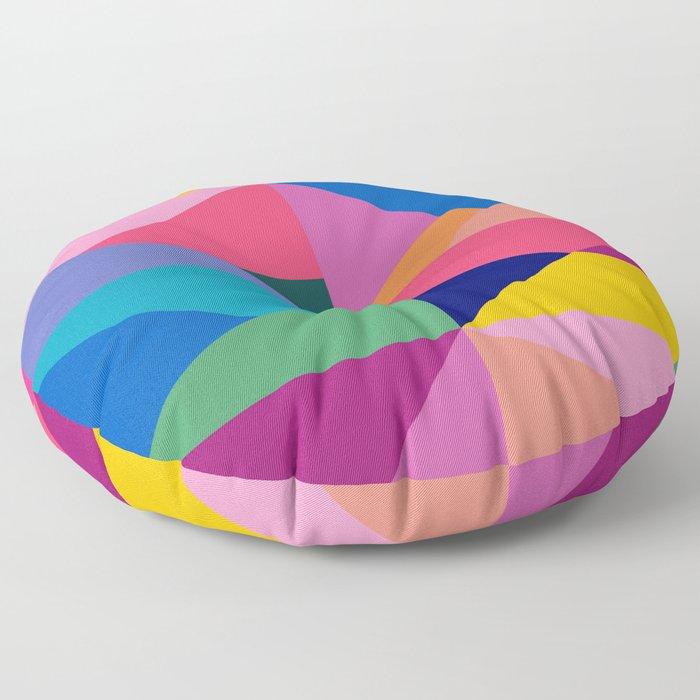 Geometric Color Block Floor Pillow