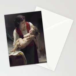 "William-Adolphe Bouguereau ""Berceuse (Le coucher)"" Stationery Cards"