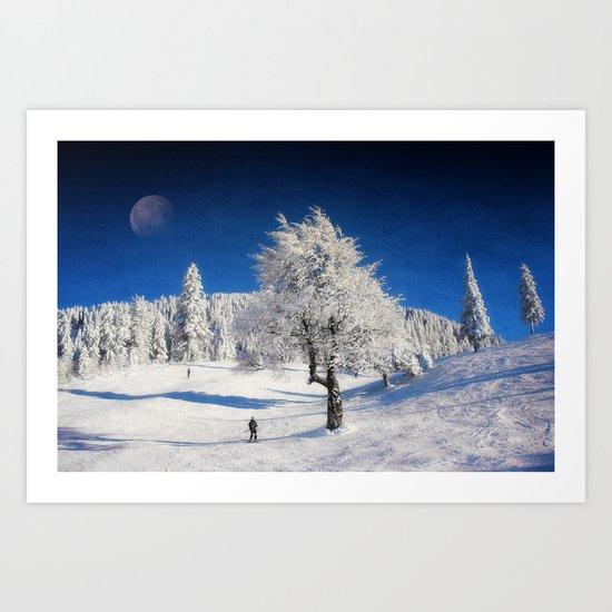 New Winter Day  Art Print