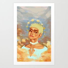 Angel Taehyung Art Print