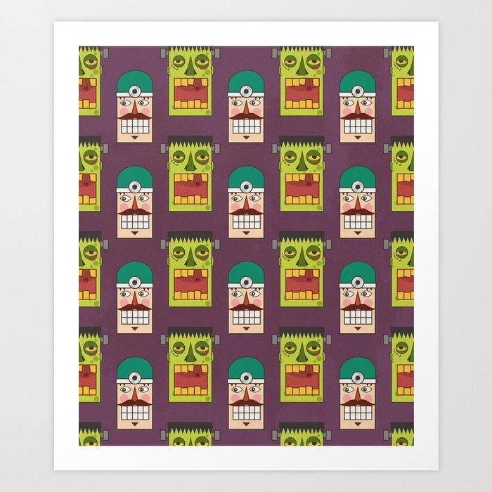 Chasing Viktor Frankenstein (Patterns Please) Art Print