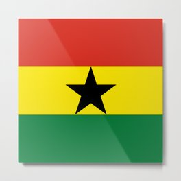 Flag: Ghana Metal Print