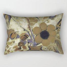 Etruscan Vase with Flowers - Odilon Redon Rectangular Pillow