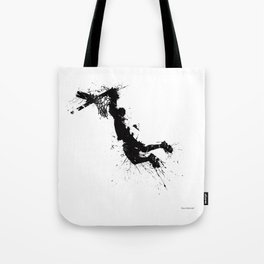 Basketball player dunking in ink Tote Bag