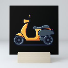 VINTAGE SCOOTER Scooter Life Gift Moped Scooter Mini Art Print