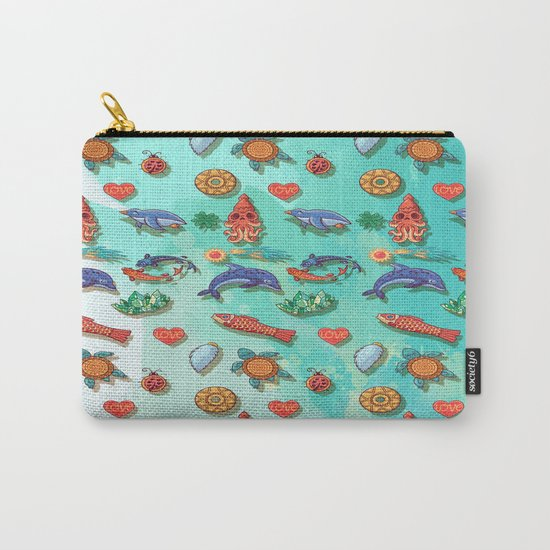 Acuarela animals 2 pattern Carry-All Pouch