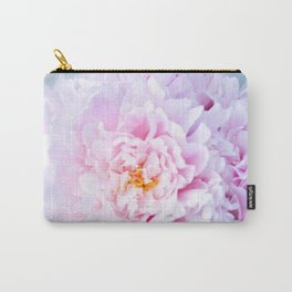Peony Flower Photography, Pink Peony Floral Art Print Nursery Decor A happy life - Peonies 2 Carry-All Pouch