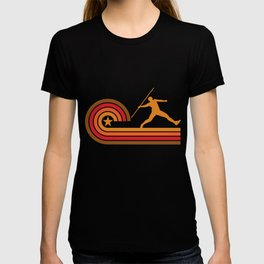 Retro Style Javelin Throw Vintage Track T-shirt
