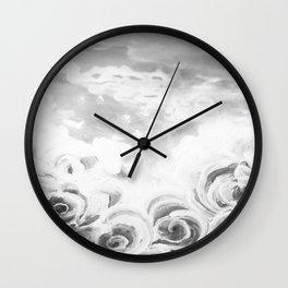 Fading Roses Silver Lining Wall Clock