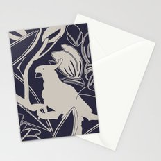 Cockatoo Evening Blue Stationery Cards