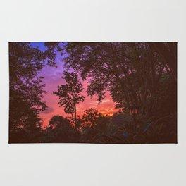 Sunset Trees Rug