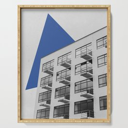 Geometry in Architecture / Blue Triangle Serving Tray