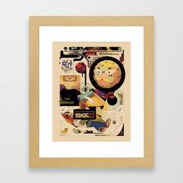 jhgfdjdgf tea Framed Art Print