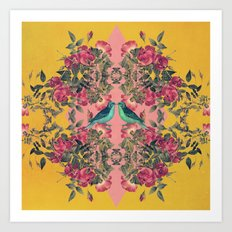 Love Birds II (yellow version) Art Print