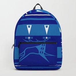 Elk Running (Blue) Backpack