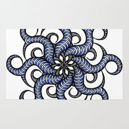 Reverse in blue Rug