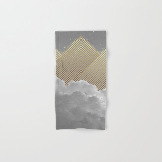 Silence is the Golden Mountain (Stay Gold) Hand & Bath Towel