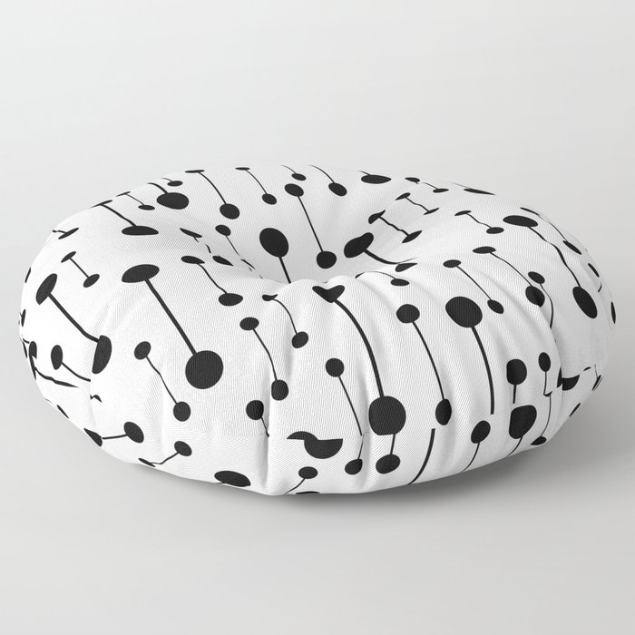 Unity - Minimalistic Black And White Pattern Floor Pillow