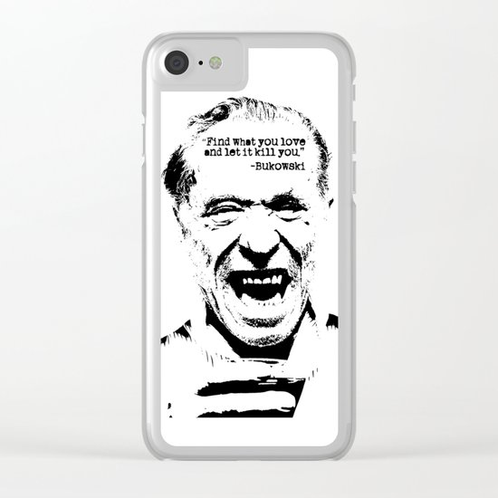 Charles Bukowski Quote Love Clear iPhone Case