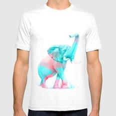 Elephant Mens Fitted Tee MEDIUM White