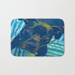 Pittie series from our POP YOUR POOCH line Bath Mat