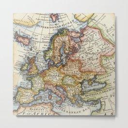 Vintage Maps Metal Print