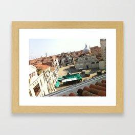 view from ruzzini - venice Framed Art Print