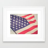 american flag Framed Art Prints featuring American Flag by Leah M. Gunther Photography & Design
