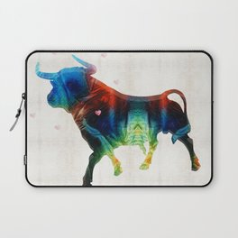 Bull Art Print – Love A Bull 2 – By Sharon Cummings Laptop Sleeve