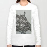eiffel Long Sleeve T-shirts featuring Eiffel by Esteban Garza