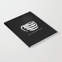Skeleton-mug (Death before Decaf) Black Notebook