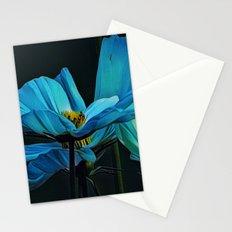 Cool Blue Comos Stationery Cards