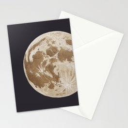 Moon Portrait 5, Linen Moon Stationery Cards