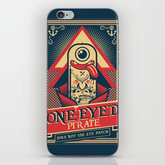 One-eyed Pirate iPhone & iPod Skin