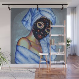 Space mask Wall Mural