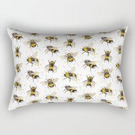 Fluffy Bumblebees (Pattern) Rectangular Pillow