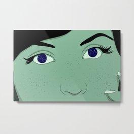 Stars in Her Eyes Metal Print